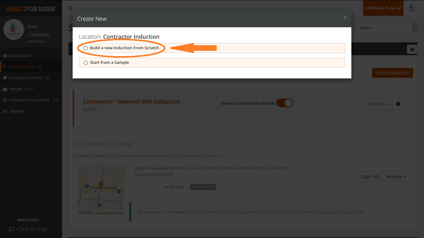 3-b Creating new online inductions using editor | Induct For Work