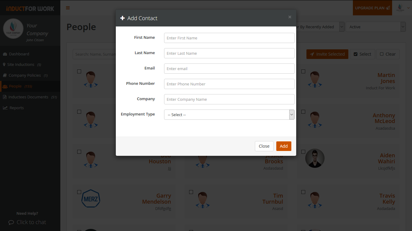 Creating Employee Profiles Online Induction