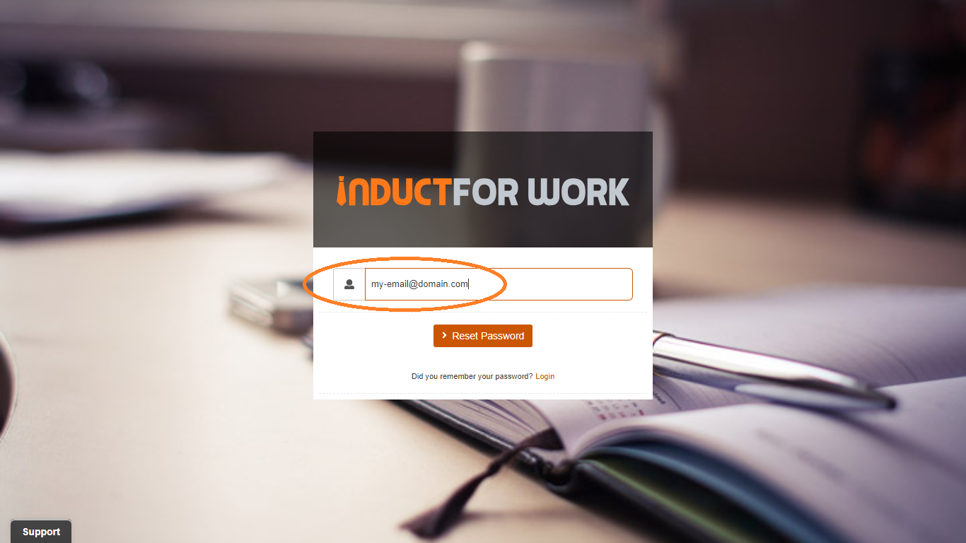 password reset online induction saftware australia