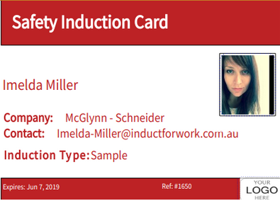 online induction id card